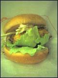 根菜サラダとプラムソースがけ マスタードチキンバーガー